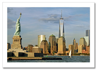Statue of Liberty Downtown NY Christmas Card HPC-2160