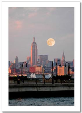 Sunset Midtown Manhattan NY Christmas Card HPC-2309