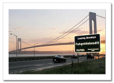 Verrazano Bridge Panorama NY Christmas Card HPC-2720