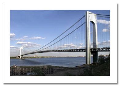 Verrazano Bridge Panorama NY Christmas Card HPC-2722