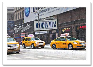 Winter Garden Snow Broadway NY Christmas Card HPC-2289