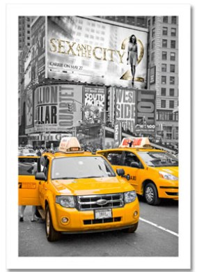 Yellow Cabs on Times Square II NY Christmas Card HPC-2228