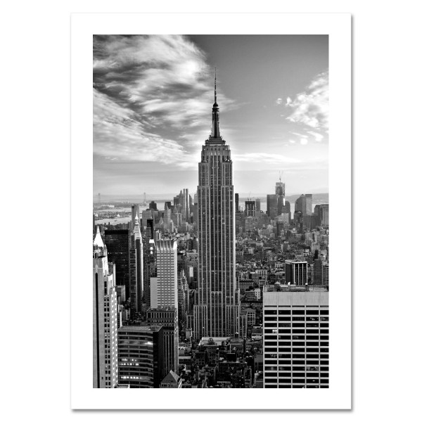 Empire State Building Black and White