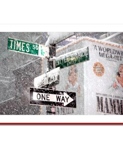 Times Square Signs Snow NY Christmas Cards HPC2494