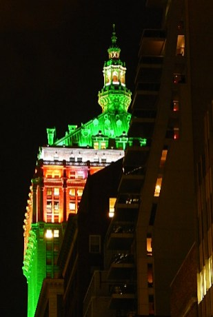Helmsley Building Christmas Lights on a Top Floors