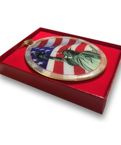 Statue of Liberty Flag Christmas Ornament CO48301 box from ny christmas gifts