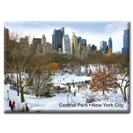 New York Photo Magnet Wollman Rink Central Park Winter from NY Christmas Gifts