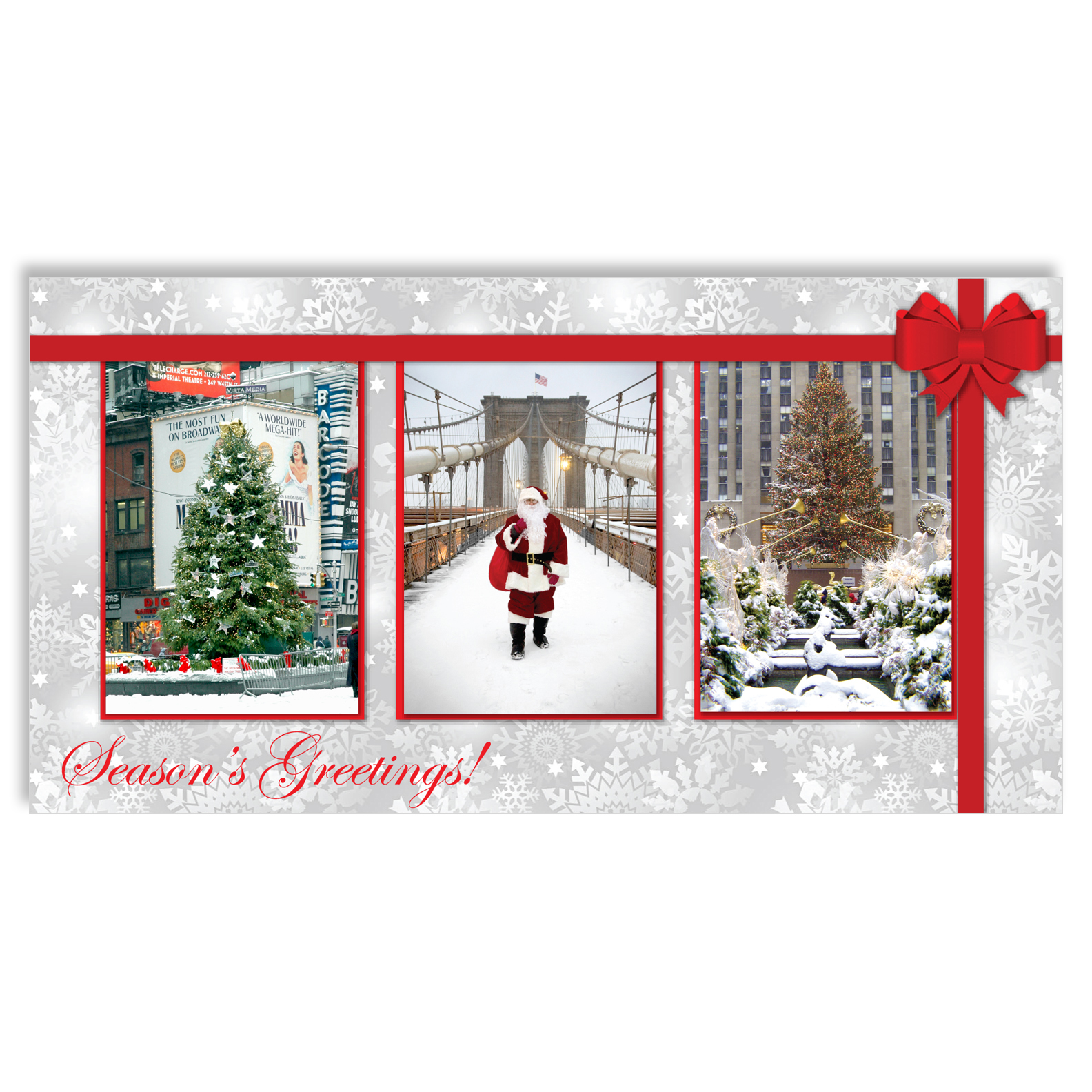 Christmas in New York – Christmas Money Cards Holders Set of 6
