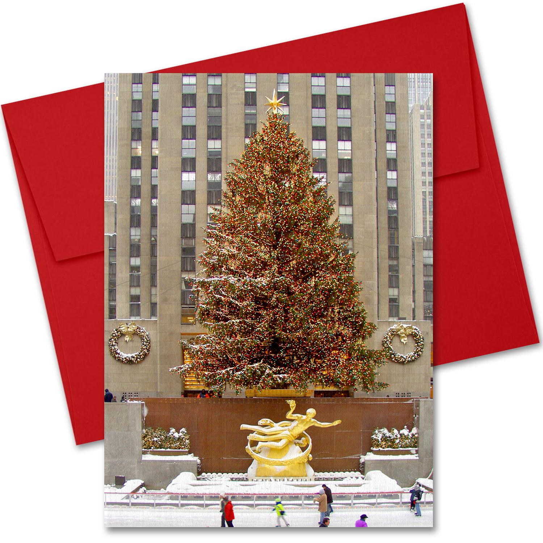 Rockefeller Center Skating Rink New York Nyc Christmas Boxed Cards