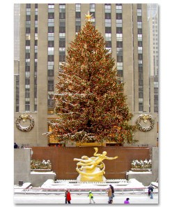 MC-3205 Rockefeller Center Skating Rink Christmas NY Holidays Boxed Cards from NY Christmas Gifts Store