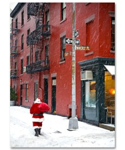BMC3213 Santa Greenwich Village Gay Street Boxed Holiday Cards from NY Christmas Gifts