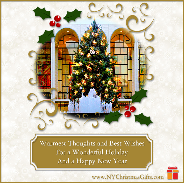 Free eCards - Lincoln Center Christmas Tree form NY Christmas Gifts
