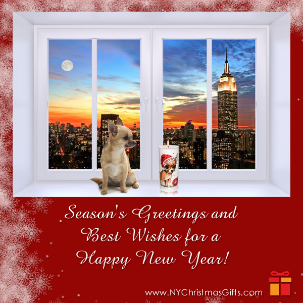 Free eCard Happy New Year 2018 Chihuahua NY Christmas Gifts