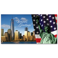 Statue of Liberty & Freedom Tower – Holidays Money Greeting Cards Holders Set of 6