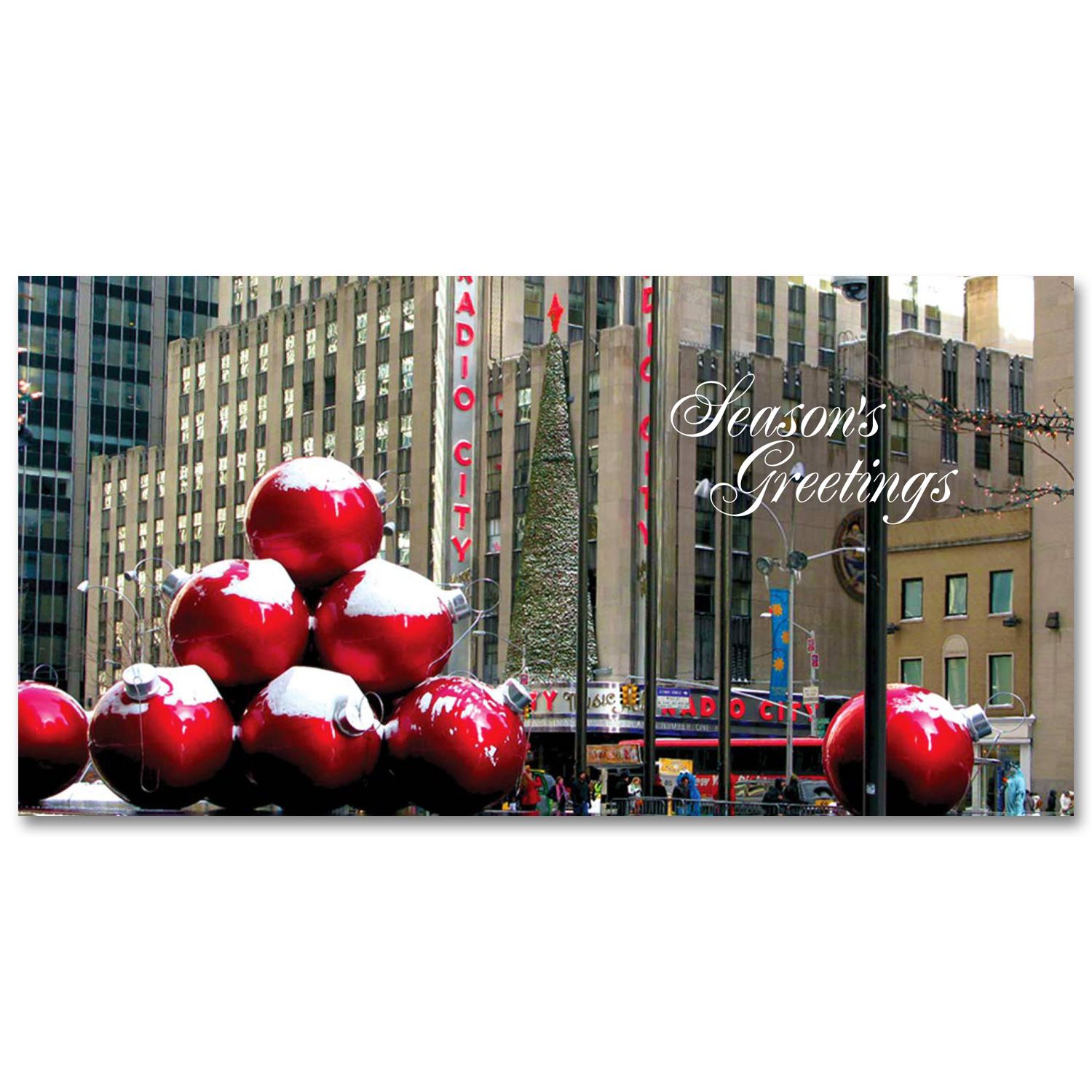 Christmas Decorations In Midtown Manhattan Holidays Money Greeting