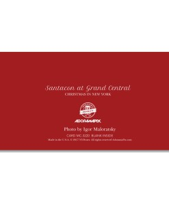MCH-3220 Santacon in Grand Central NYC Christmas Money Card Set of 6 from NY Christmas Gifts