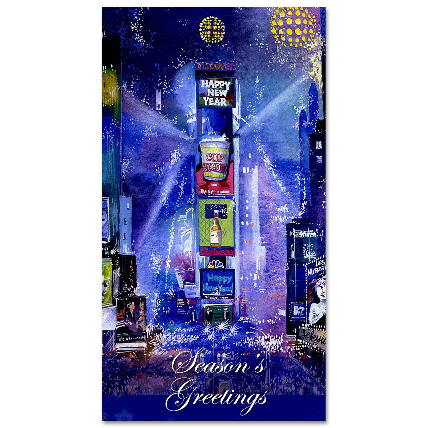 Times square new year celebration holidays money greeting cards times square new year celebration holidays money greeting cards holders set of 6 m4hsunfo