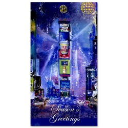 Times Square New Year Celebration – Holidays Money Greeting Cards Holders Set of 6