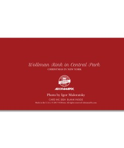 MCH-3824 Wollman Rink Central Park NYC Christmas Money Card Set of 6 from NY Christmas Gifts