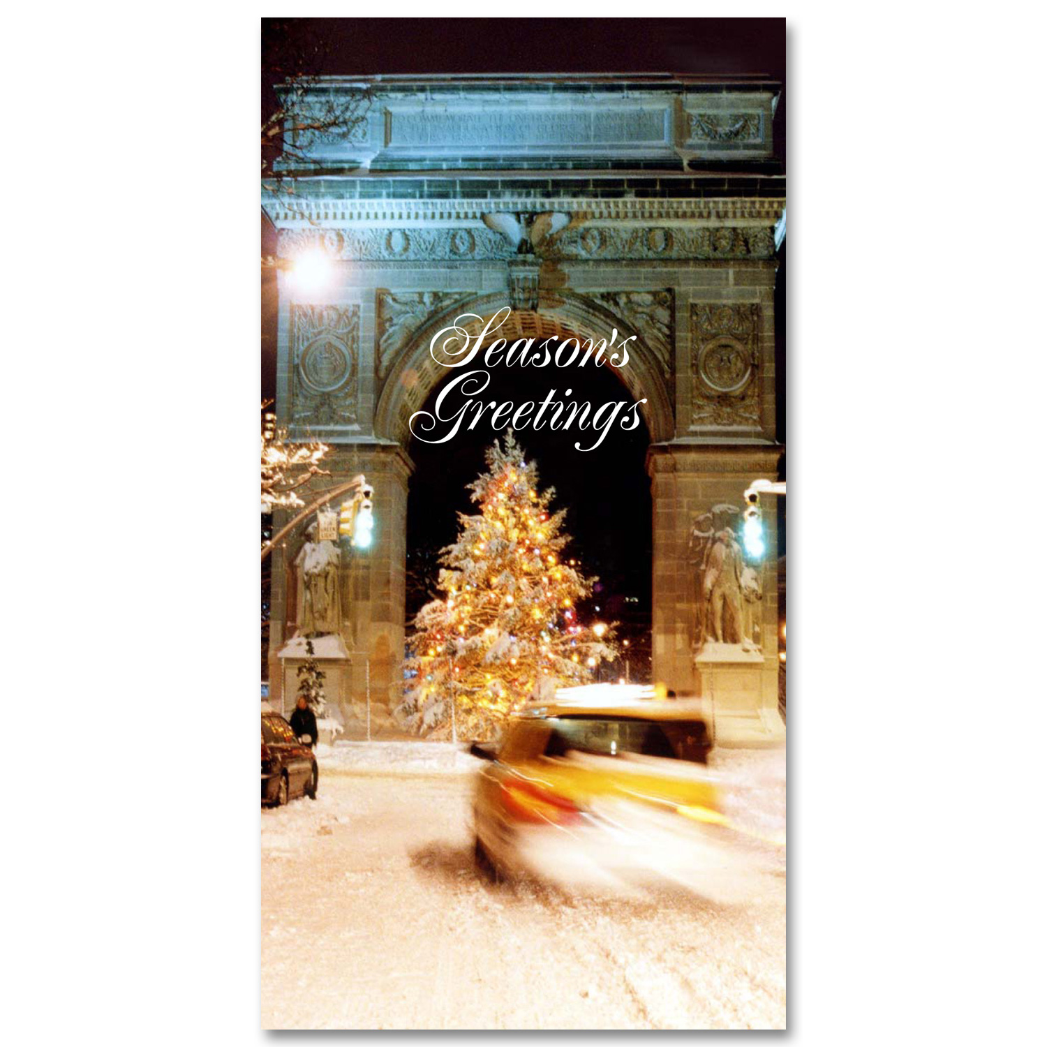 Holidays Money Greeting Cards Holders – Washington Arch Christmas Tree – Set of 6 Cards, 6 Envelopes. Holidays in NYC Collection