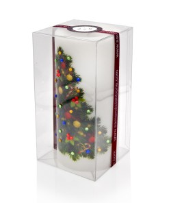 Merry Christmas Decorated Tree Luxury Candle 3x6 by Sam & Wishbone from NY Christmas Gifts