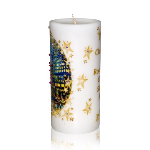 Rockefeller Center Skating Rink Luxury Christmas Candle 3x6 by Sam and Wishbone from NY Christmas Gifts