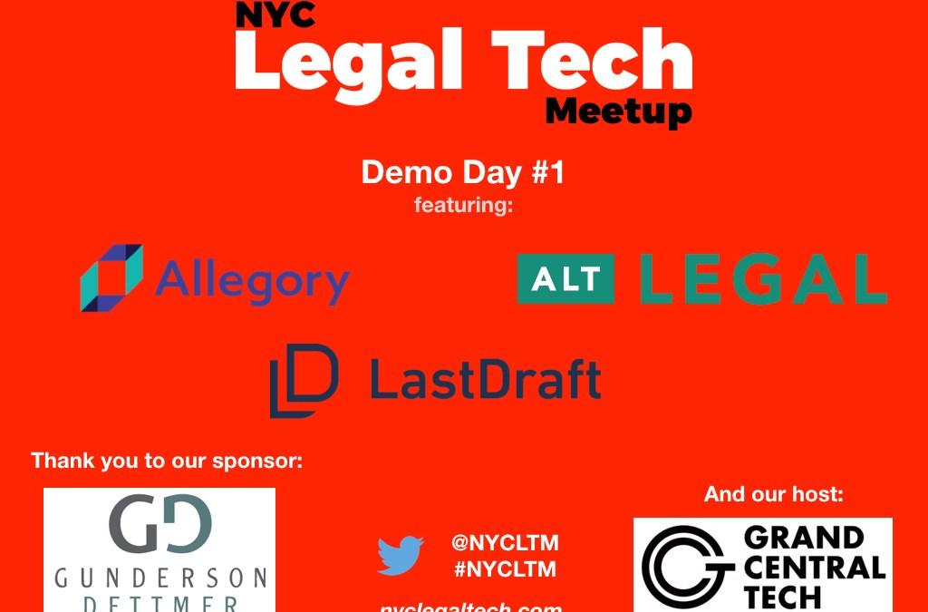 Demo Day #1 Recap