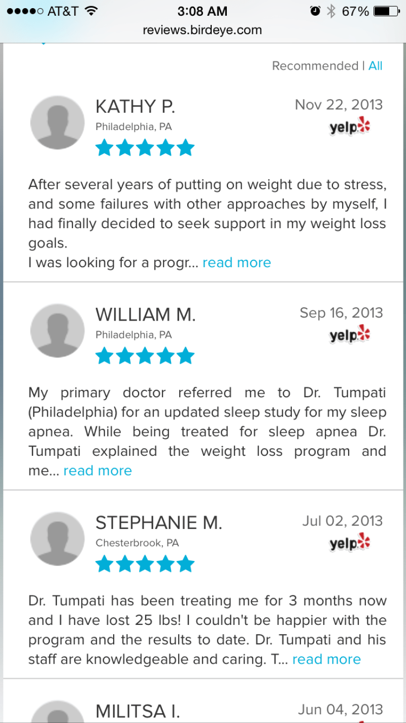 weight loss program PA reviews