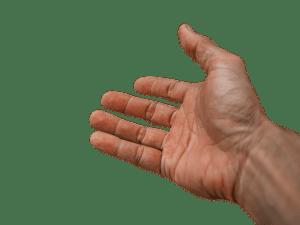 A hand.