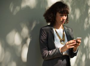 woman on phone - adjusting after relocation