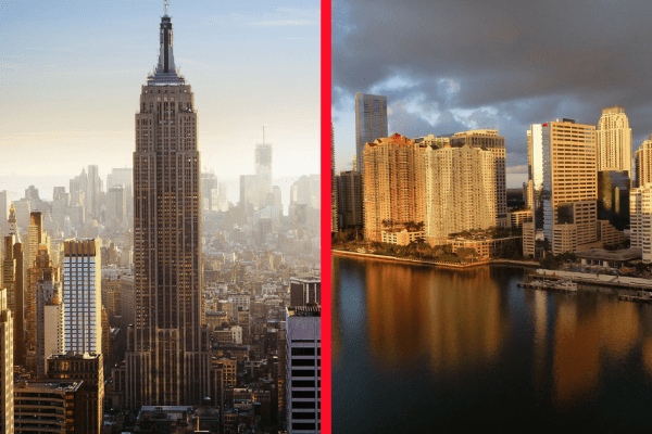 NYC vs Miami