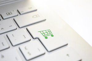 online shopping button on a keyboard