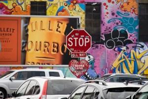 Graffiti in Bushwick, Brooklyn.