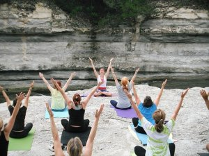Yoga classes.