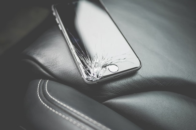 Broken phone requires a moving damage claim.