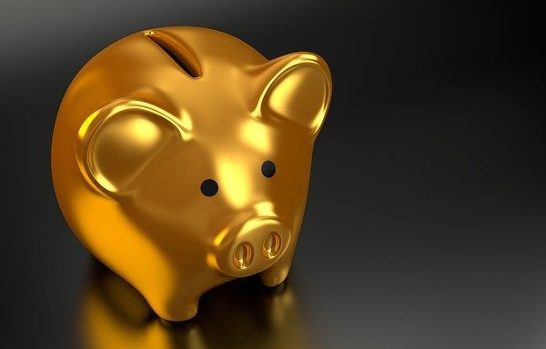 A golden piggy bank.