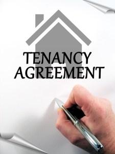 Tenancy agreement sign