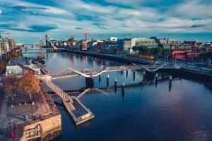 A view of Dublin, one of the best destinations to live in Europe for New York.