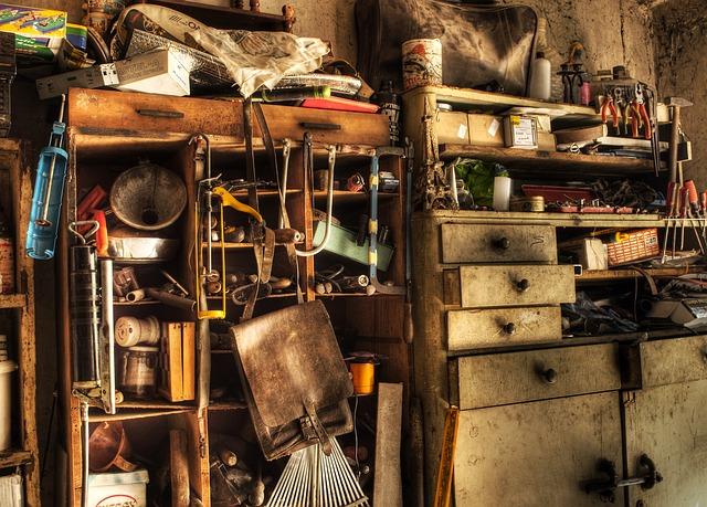 An unorganized dresser calls for decluttering your basement.