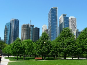 A park in Chicago, as outdoor activities are one of the reasons why New York's young professionals are moving to Chicago.