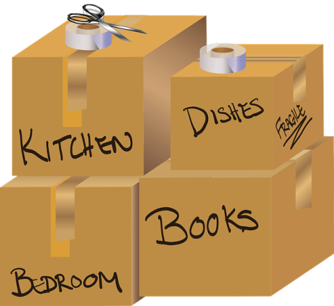 Label boxes before you rent a truck for a one-way DIY move