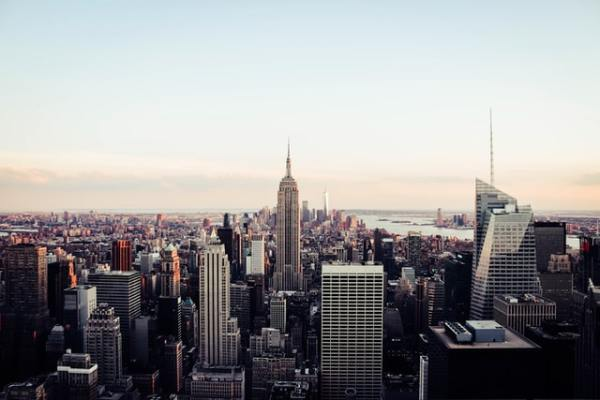 an areal image of New York, read about 6 benefits of moving your Austin-based company to NYC