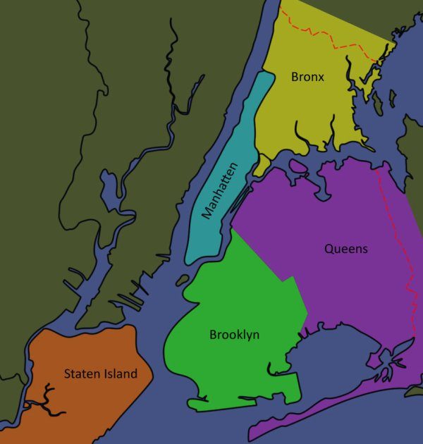 20 Map Of New York City Boroughs And Bridges Pictures And Ideas On