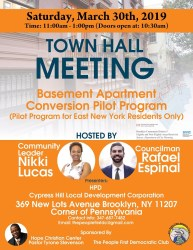 Attend The East New York Basement Apartment Conversion Program Town Hall Meeting Saturday March 30 East New York News