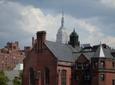 The Empire State building a view from the High Line
