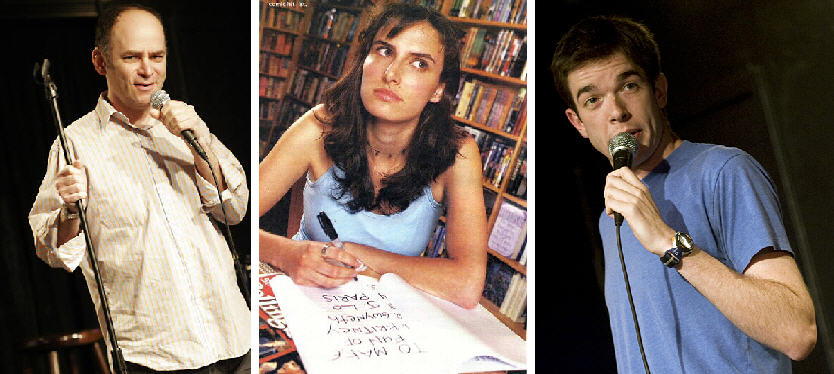 Comedy geniuses Todd Barry, Jessi Klein, and John Mulaney...