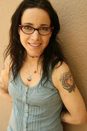 Janeane Garofalo performs on Wednesday at Totally J/K