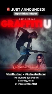 Keith Urban Graffiti U Tour Announcements