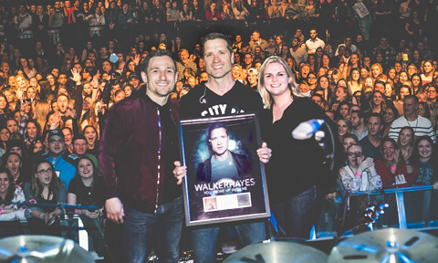 Walker Hayes - You Broke Up With Me Platinum Record
