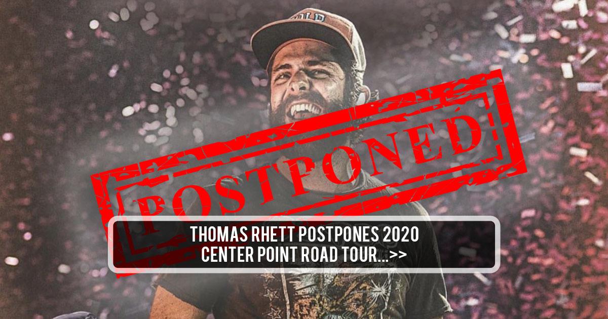 Thomas Rhett Reschedules The Center Point Road 2020 Tour